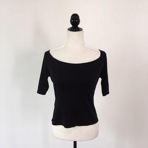 Laundry by Shelli Segal Black Off Shoulder Top